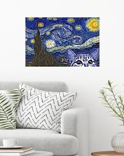 Starry Night Cat Kitten 24x16 Poster poster-landscape-24x16-lifestyle-01