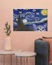 Starry Night Cat Kitten 24x16 Poster poster-landscape-24x16-lifestyle-22