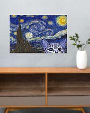 Starry Night Cat Kitten 24x16 Poster poster-landscape-24x16-lifestyle-25