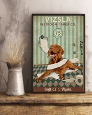 Green Restroom Paper Company Vizsla 11x17 Poster lifestyle-poster-3