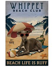 Vintage Beach Club Is Ruff Whippet 11x17 Poster front