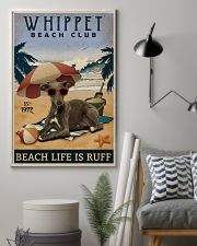 Vintage Beach Club Is Ruff Whippet 11x17 Poster lifestyle-poster-1