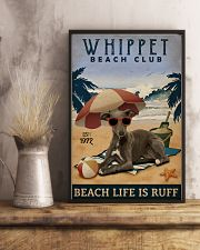 Vintage Beach Club Is Ruff Whippet 11x17 Poster lifestyle-poster-3