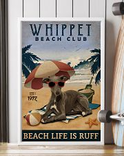 Vintage Beach Club Is Ruff Whippet 11x17 Poster lifestyle-poster-4