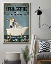 Vintage Bath Soap Charolais Cattle 11x17 Poster lifestyle-poster-1