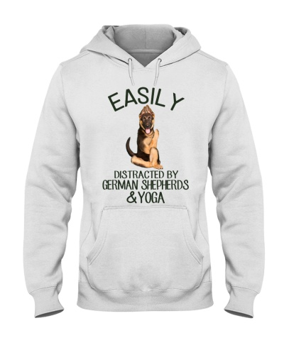 Easily Distracted By German Shepherd And Yoga