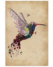 Vintage Floral Hummingbird  11x17 Poster front