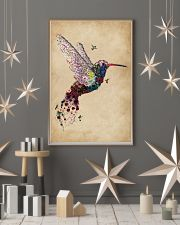Vintage Floral Hummingbird  11x17 Poster lifestyle-holiday-poster-1