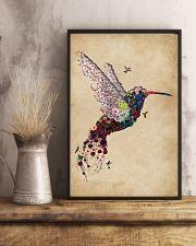 Vintage Floral Hummingbird  11x17 Poster lifestyle-poster-3