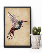 Vintage Floral Hummingbird  11x17 Poster lifestyle-poster-8
