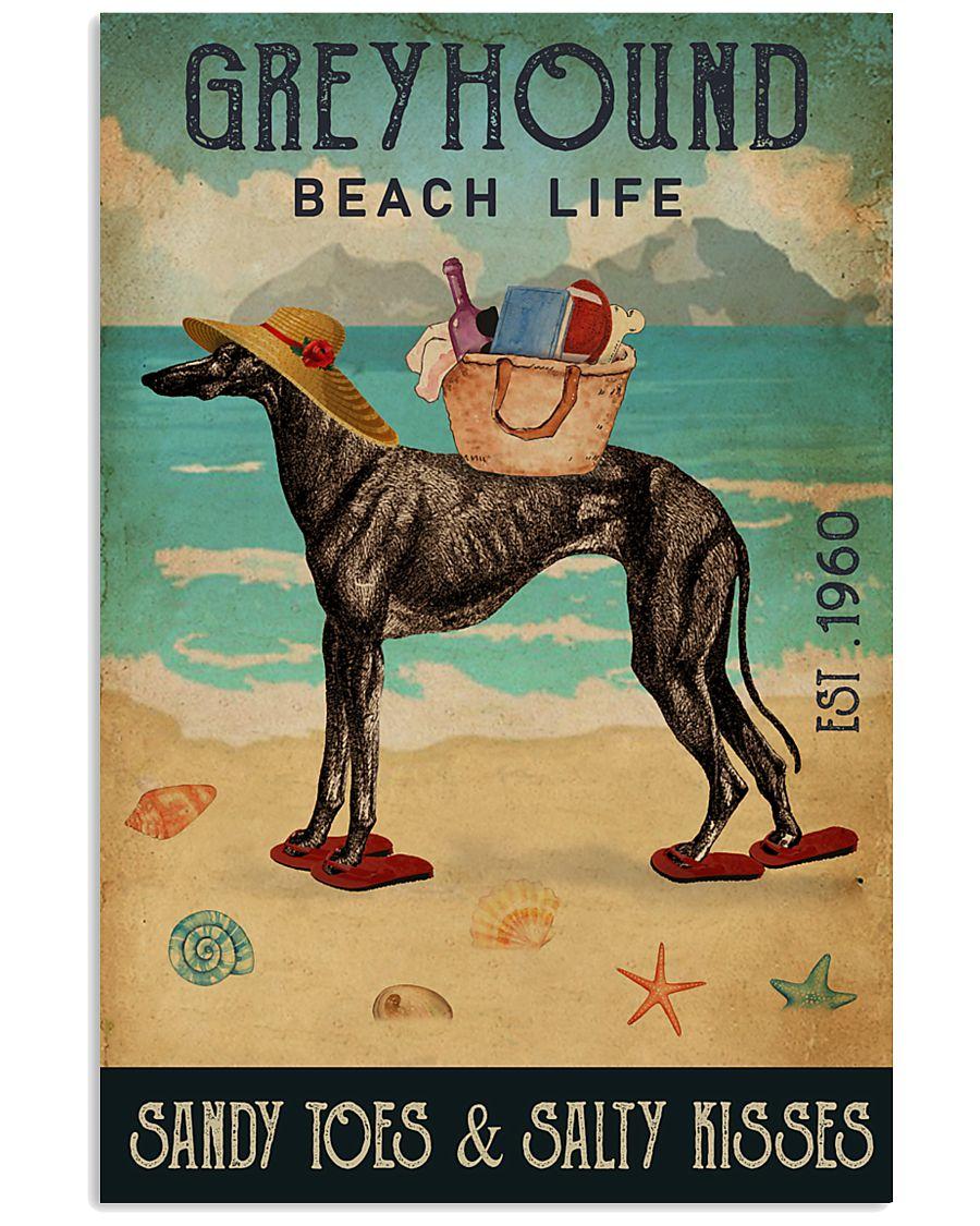 Beach Life Sandy Toes Greyhound 11x17 Poster