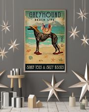 Beach Life Sandy Toes Greyhound 11x17 Poster lifestyle-holiday-poster-1