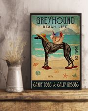 Beach Life Sandy Toes Greyhound 11x17 Poster lifestyle-poster-3