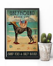 Beach Life Sandy Toes Greyhound 11x17 Poster lifestyle-poster-8