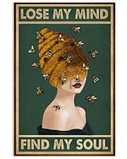 Retro Green Find My Soul Bee Lady 11x17 Poster front