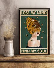 Retro Green Find My Soul Bee Lady 11x17 Poster lifestyle-poster-3