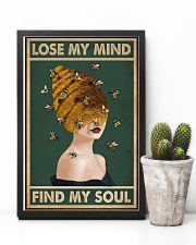 Retro Green Find My Soul Bee Lady 11x17 Poster lifestyle-poster-8