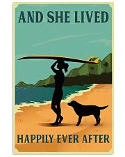 She Lived Happily Surfing Labrador Retriever 11x17 Poster front