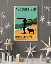 She Lived Happily Surfing Labrador Retriever 11x17 Poster lifestyle-holiday-poster-1