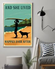 She Lived Happily Surfing Labrador Retriever 11x17 Poster lifestyle-poster-1