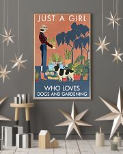 Vintage Girl Loves Gardening French Bulldog 11x17 Poster lifestyle-holiday-poster-1