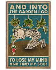 Retro Teal Skeleton Into The Garden 11x17 Poster front