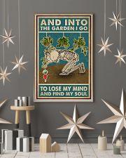 Retro Teal Skeleton Into The Garden 11x17 Poster lifestyle-holiday-poster-1