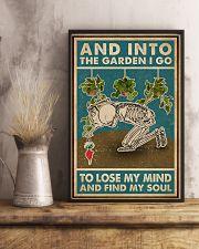 Retro Teal Skeleton Into The Garden 11x17 Poster lifestyle-poster-3
