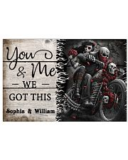 Personalize Motorcycling Skeleton You And Me 24x16 Poster front