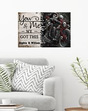 Personalize Motorcycling Skeleton You And Me 24x16 Poster poster-landscape-24x16-lifestyle-01