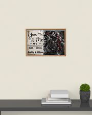 Personalize Motorcycling Skeleton You And Me 24x16 Poster poster-landscape-24x16-lifestyle-09