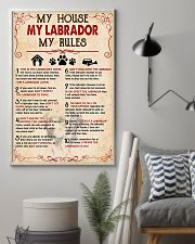 My Labrador My House My Rules 11x17 Poster lifestyle-poster-1