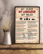 My Labrador My House My Rules 11x17 Poster lifestyle-poster-3