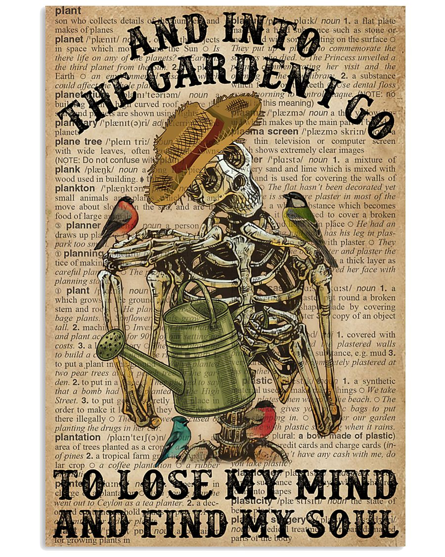 Dictionary Into The Garden Skeleton 16x24 Poster