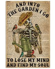 Dictionary Into The Garden Skeleton 16x24 Poster front