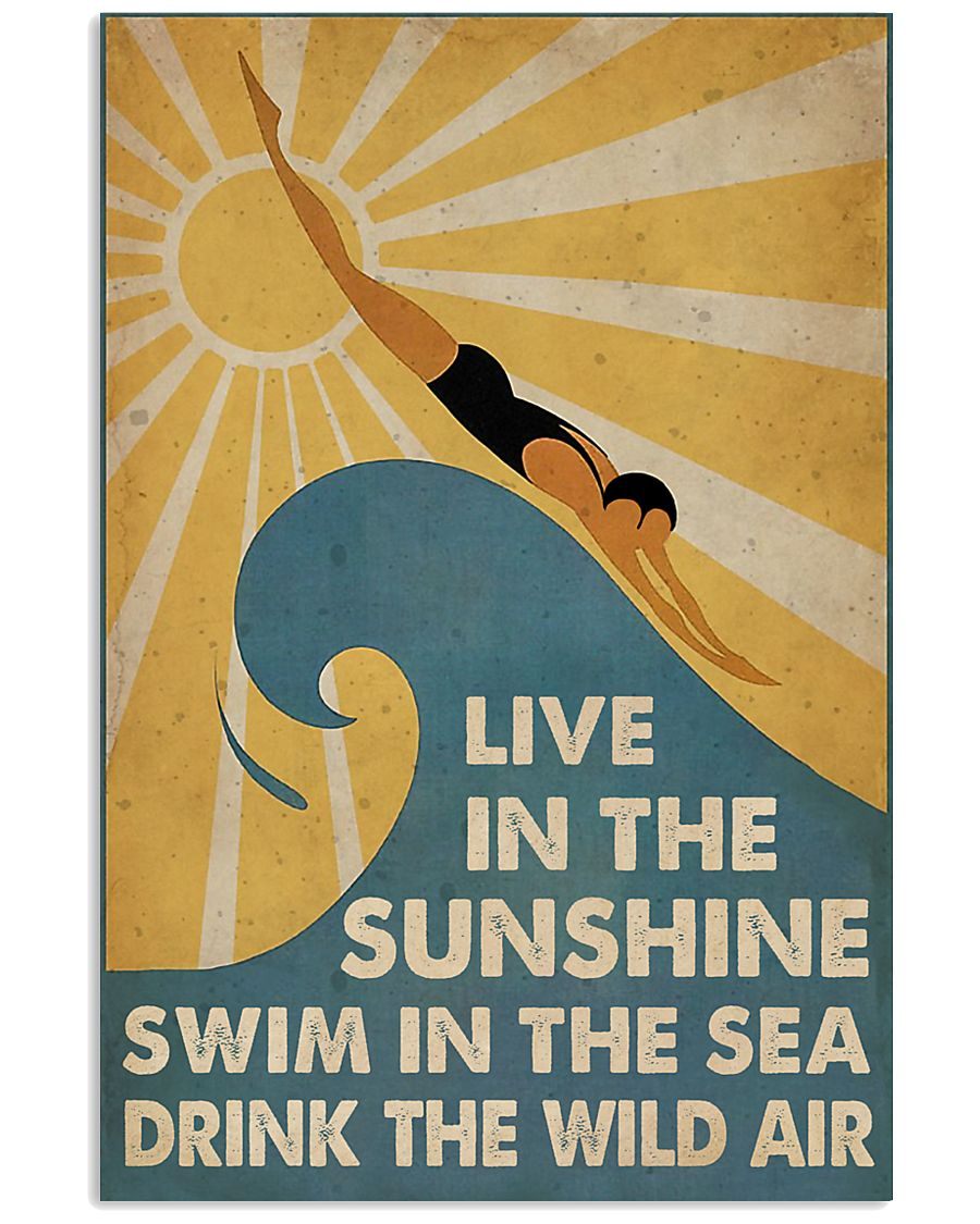 Swimming Live In The Sun  11x17 Poster