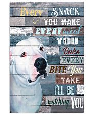 Pitbull White Every Snack You Make 11x17 Poster front