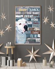 Pitbull White Every Snack You Make 11x17 Poster lifestyle-holiday-poster-1