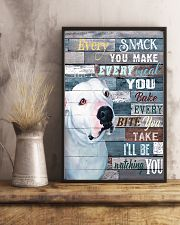 Pitbull White Every Snack You Make 11x17 Poster lifestyle-poster-3