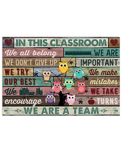 In This Classroom Owls Teacher