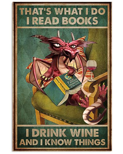Read Books And Drink Wine Dragon