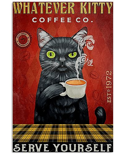 Black Cat Coffee What Ever Kitty
