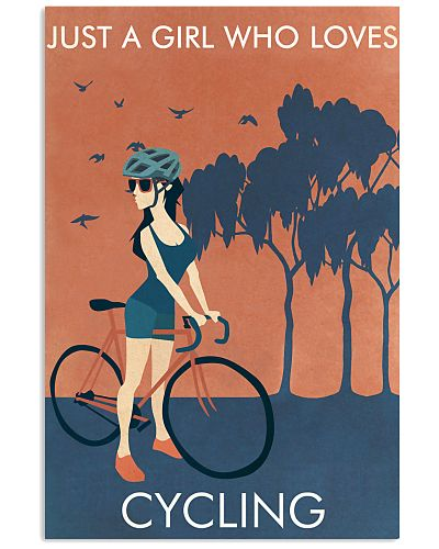 Vintage Orange Just A Girl Cycling