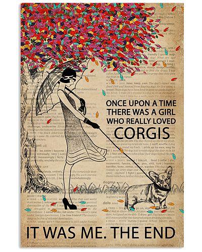 Dictionary Girl Once Upon Corgi