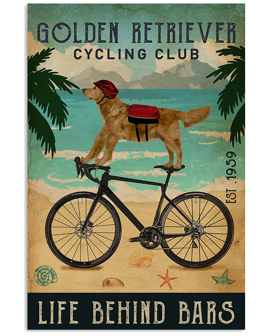 Cycling Club Golden Retriever 11x17 Poster