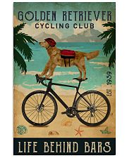 Cycling Club Golden Retriever 11x17 Poster front