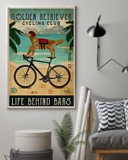 Cycling Club Golden Retriever 11x17 Poster lifestyle-poster-1