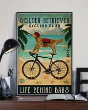 Cycling Club Golden Retriever 11x17 Poster lifestyle-poster-2