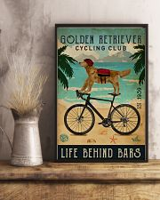 Cycling Club Golden Retriever 11x17 Poster lifestyle-poster-3