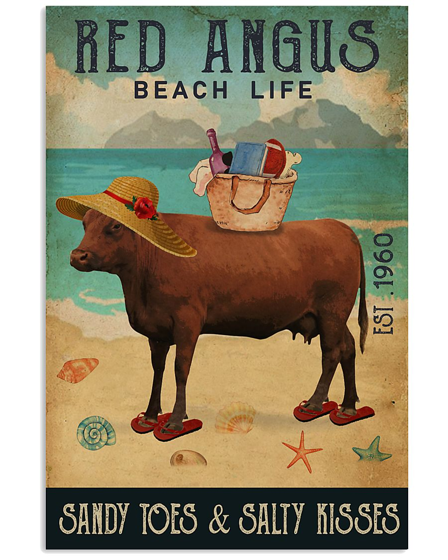 Beach Life Sandy Toes Red Angus 11x17 Poster